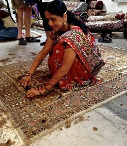 Clipping silk carpet