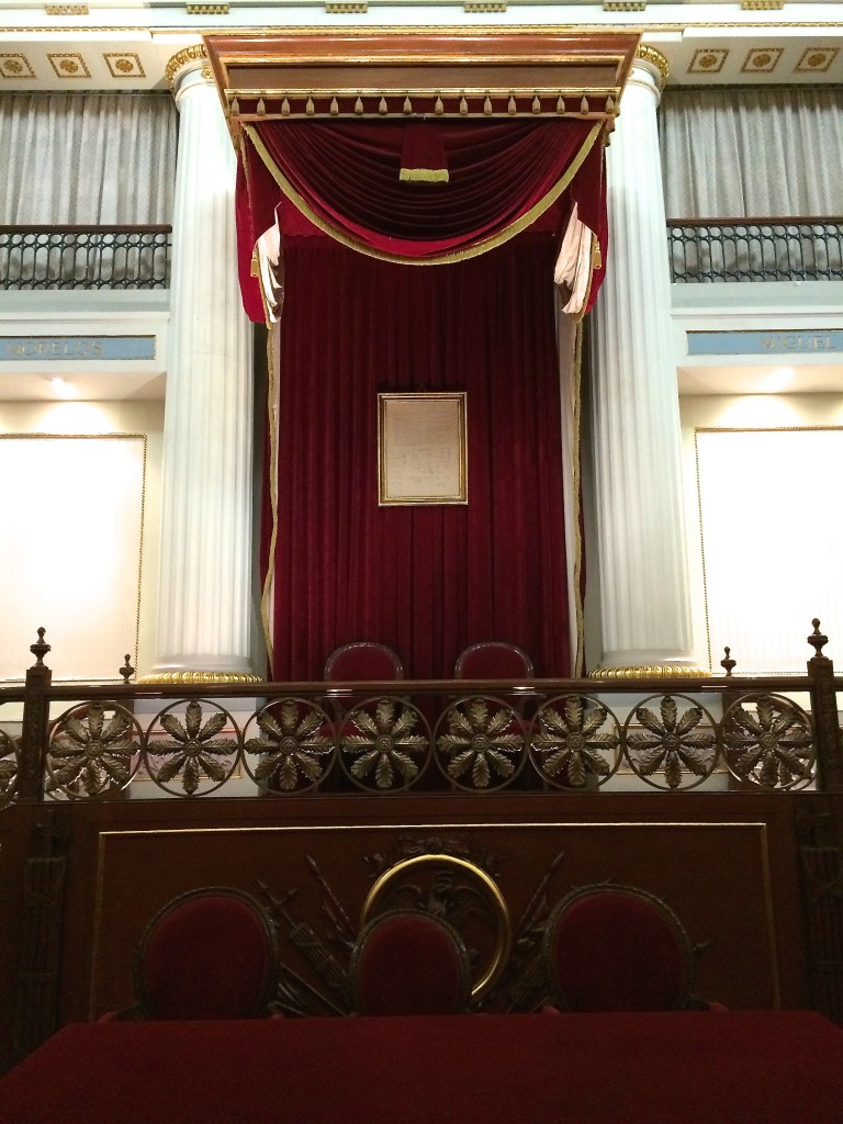 National Palace - throne room