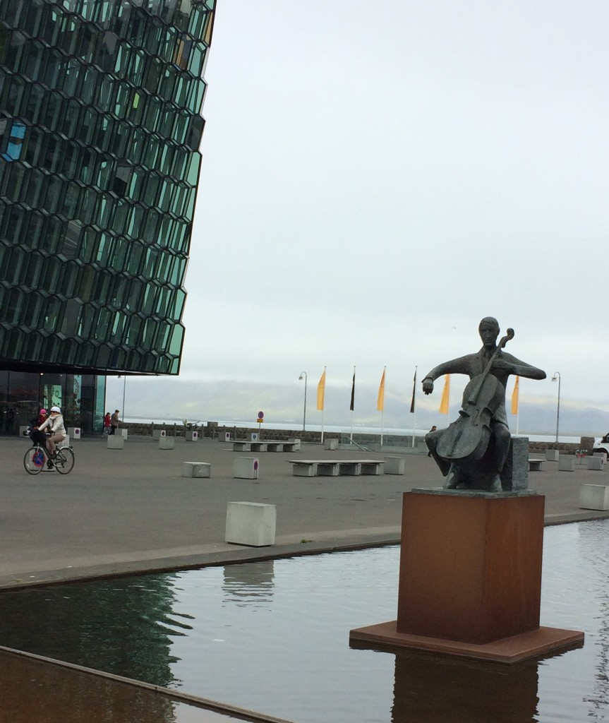 Cellist at Harpa