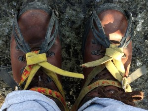 properly tied crampons