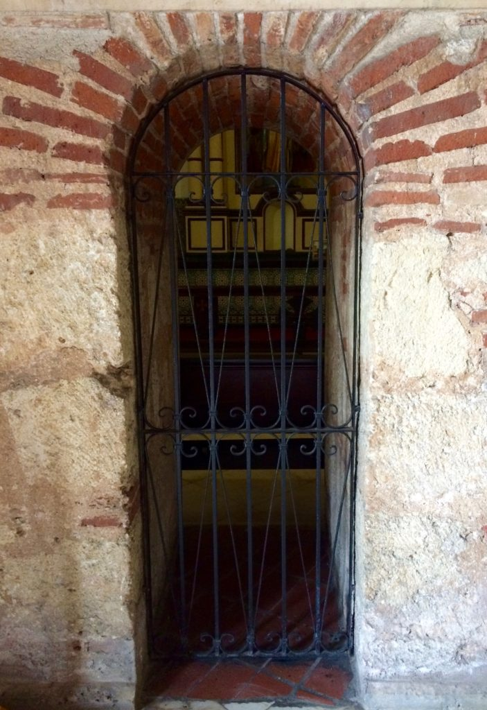 Interior gated entry to chapel