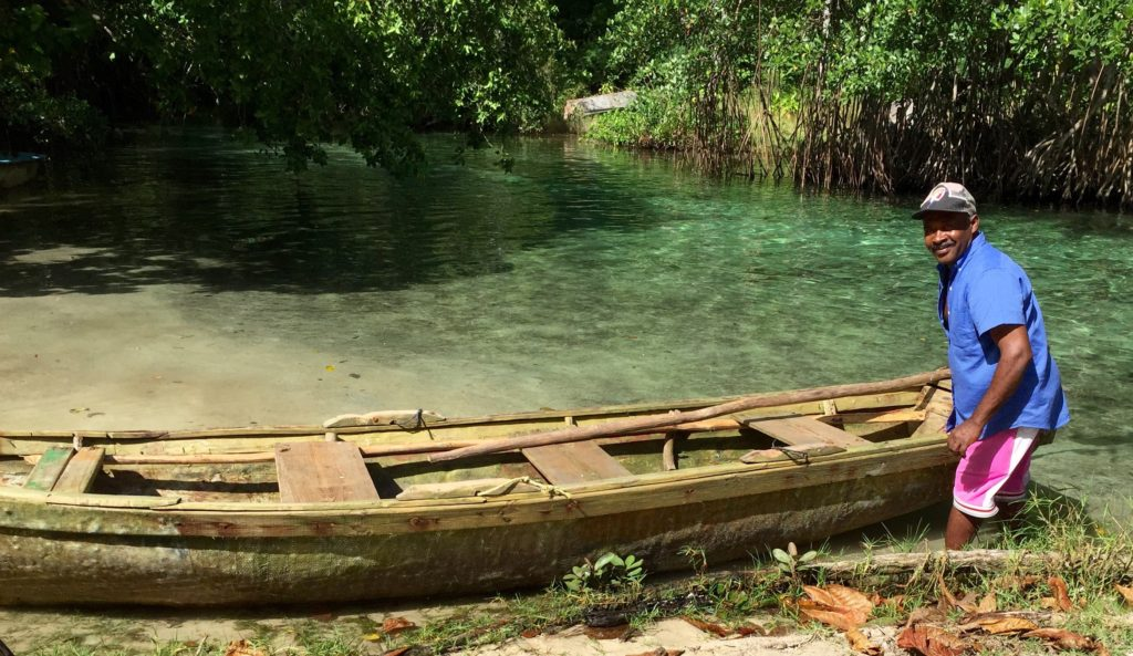 Dugout canoe on the Cano Frio