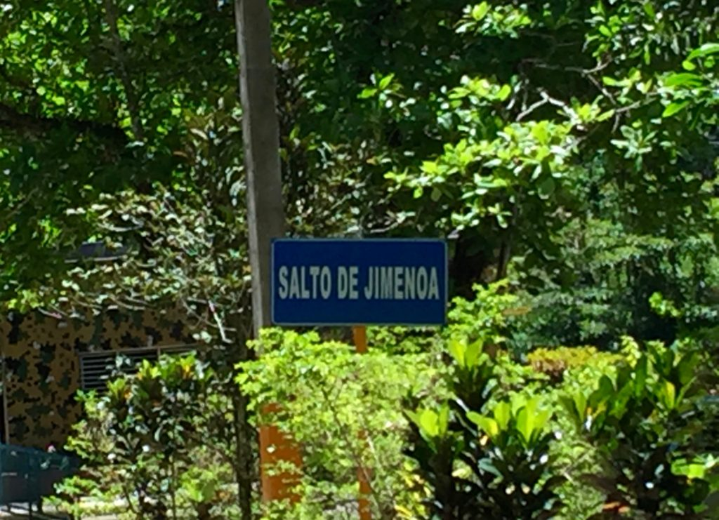 Salto de Jimenoa sign