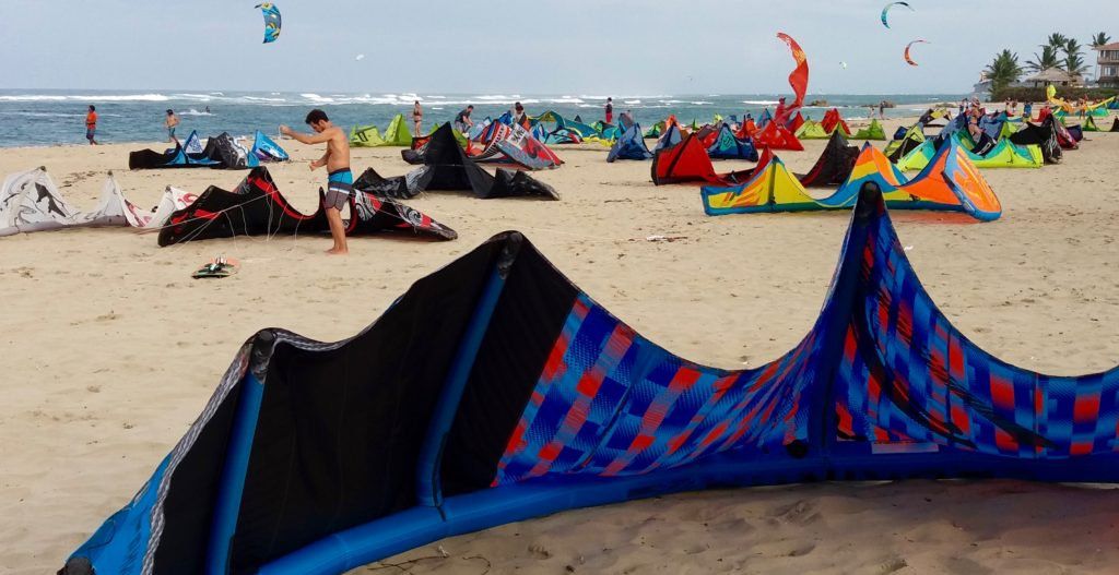 Cabarete kites coming in