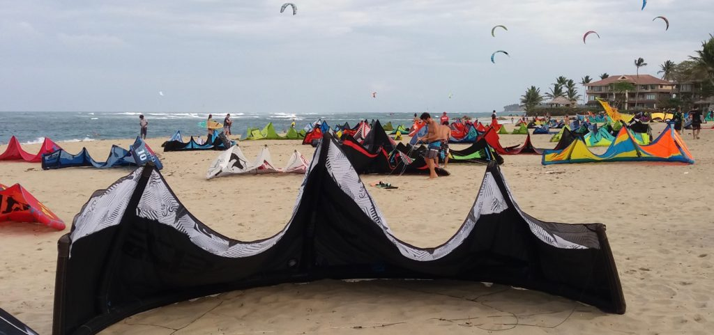 Setting down kites