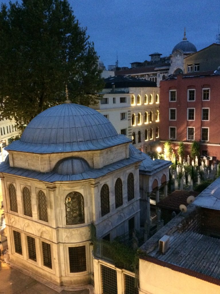 View out bedroom window at the Legacy Ottoman Hotel