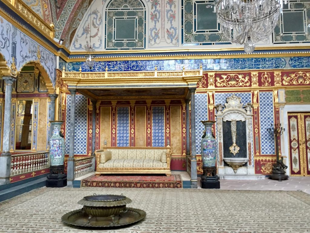 Imperial Hall with the throne of the sultan