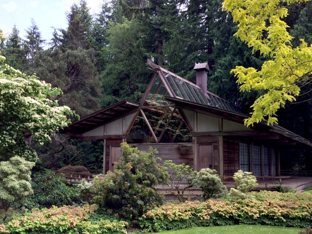 Bloedel Reserve - house in Japanese gardens