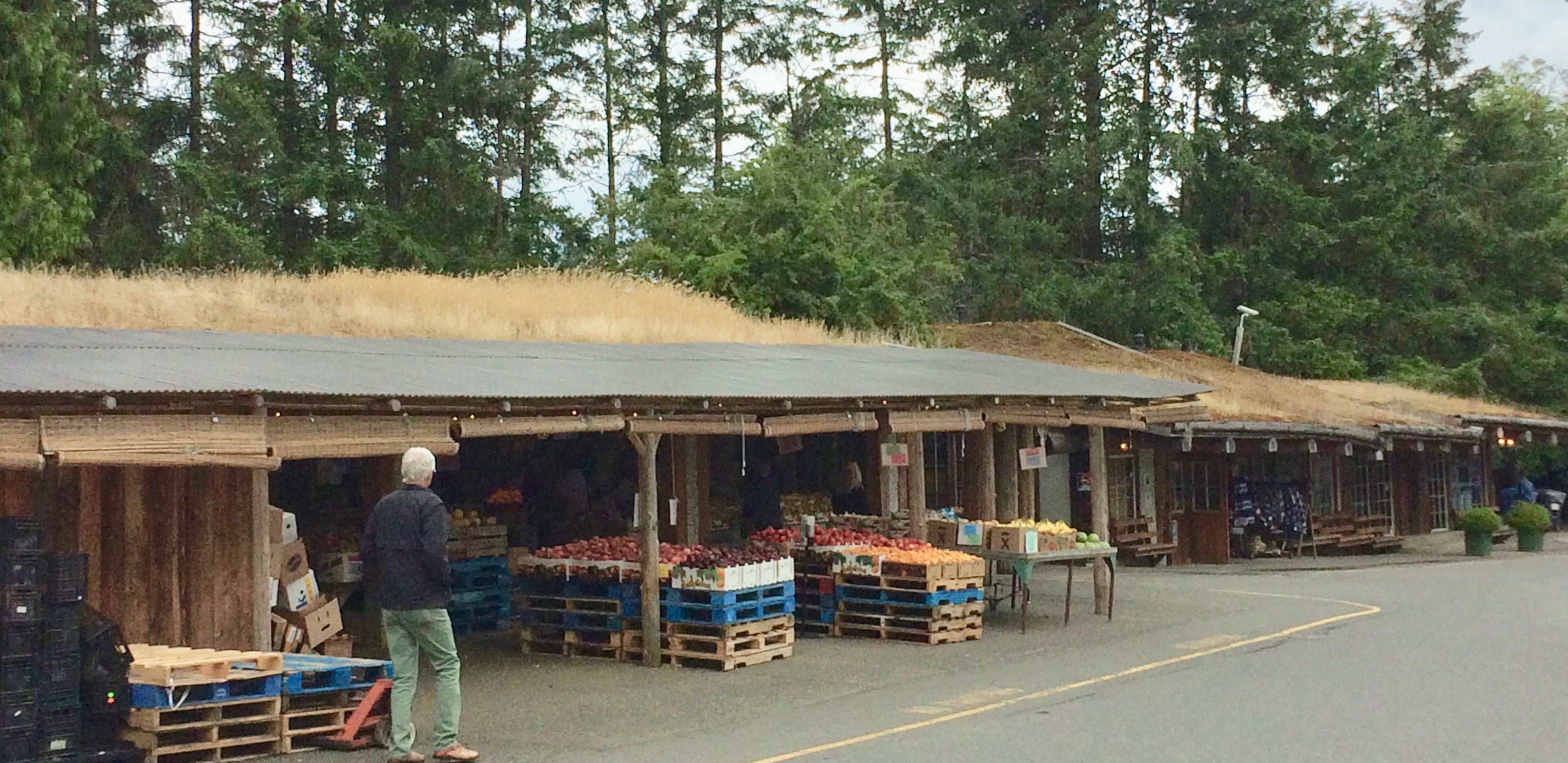 Produce stands at Goats on Roof