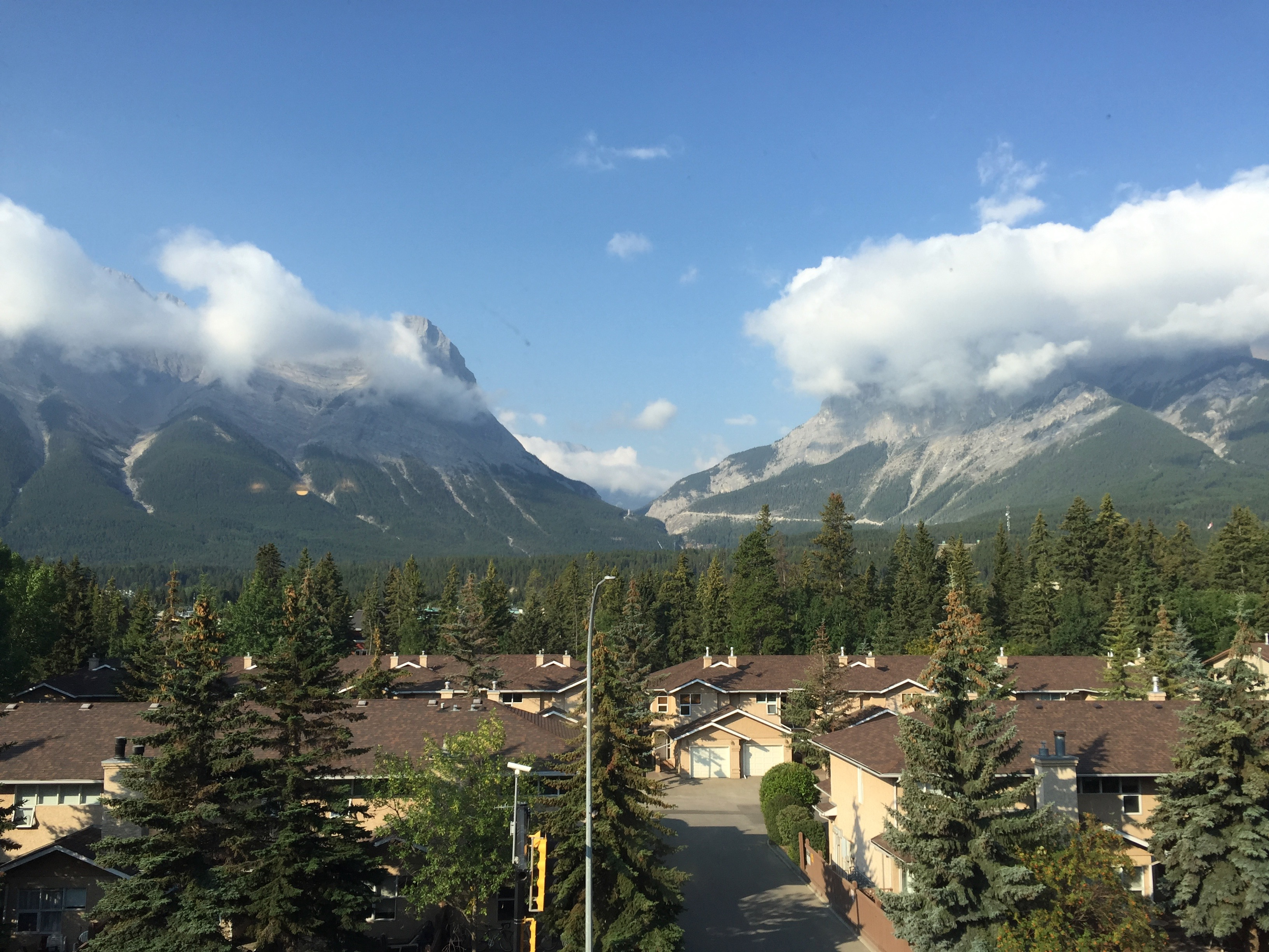 Canmore with clear skies 13 August 2018