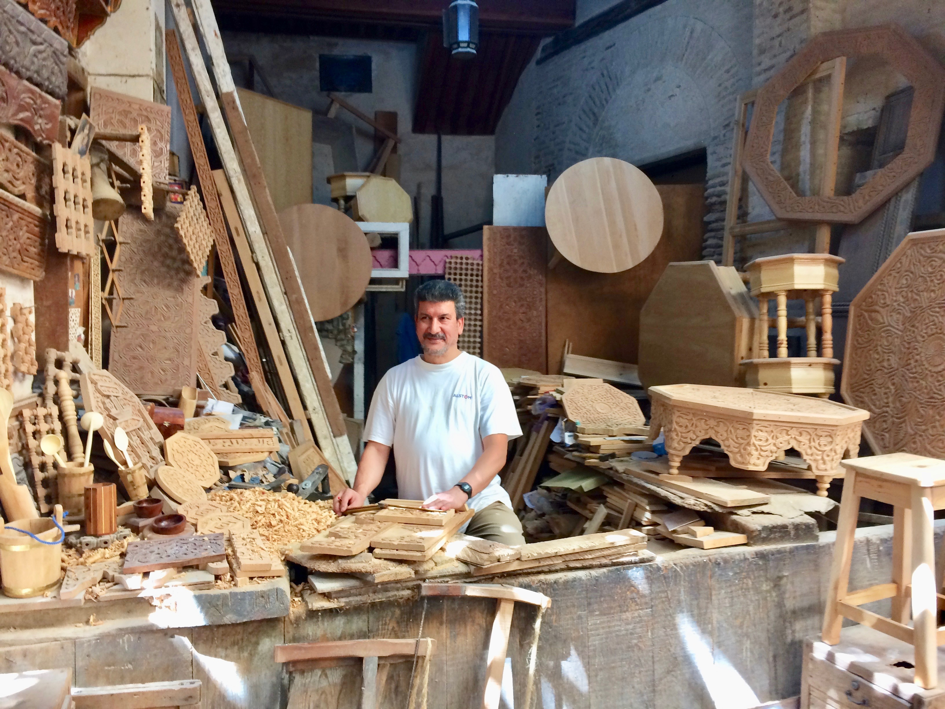 Woodworker at his craft